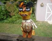 Folk Art Big Pumpkin Girl SALE a bargain
