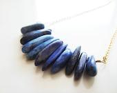 Reserved - Nefertiti Necklace - Lapis Lazuli