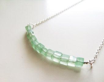 Cubism Necklace - Green Aventurine