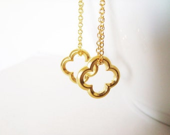 Clover Earrings - Gold