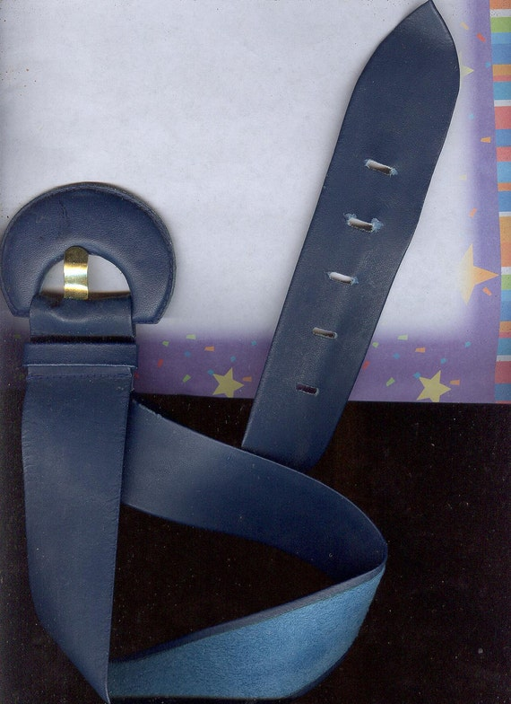 Buttery Soft Navy Blue Leather Belt