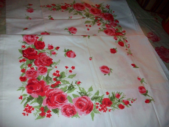Pillowcases Roses Vintage Cottage Pink Cannon Chic Floral  Chic vintage510 code 15% off