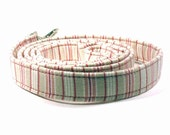 Light pink and beige striped leash for lady dogs