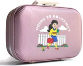 Vintage-Travel-Girls-Pink-Suitcase-Childrens-Overnight Case-Luggage