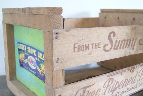 Wood Vintage Fruit Crate
