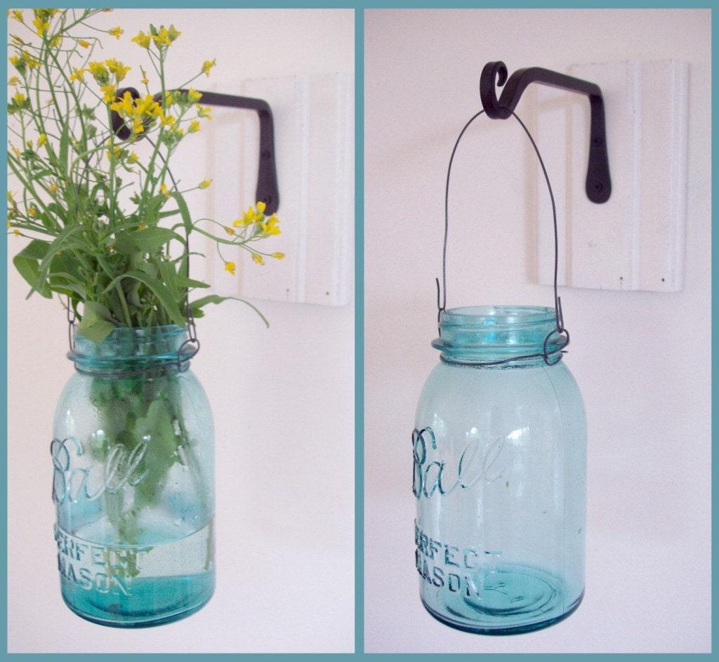 Reserved Mason Jar Hanging Vase Or Candleholder