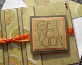 Get Well Soon Card with Matching Embellished Envelope - Modern Organics