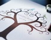 Family Tree - Custom Fingerprint Canvas - 16x20 Capacity 35-65  fingerprints, KIT