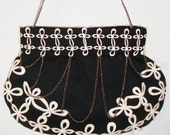Fleur de lis hand-crochet purse- In stock