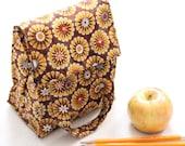 reusable stashable lunch bag cotton tie dye print