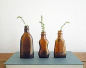 Vintage brown bottle collection