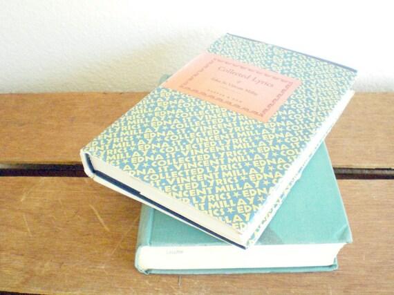 vintage poetry set by famous poet edna st. vincent millay.