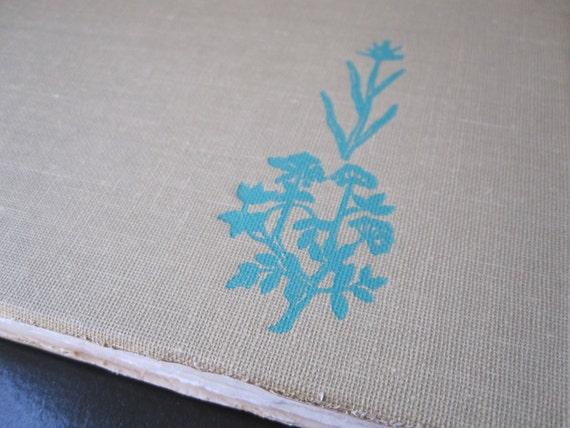 a matter of taste herb & spice vintage cookbook recycled handmade coptic stitch art journal sketchbook
