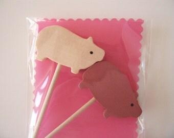 Cupcake Topper- Two Pink Piggies