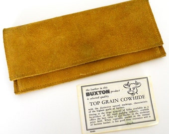 Suede Billfold- Buxton Cowhide, 1980s