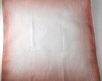 Ombre Handkerchief- Cotton, Vintage 1950s, Brown