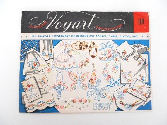 Vogart 110- All purpose assortment of designs for scarfs, cases cloths, etc.