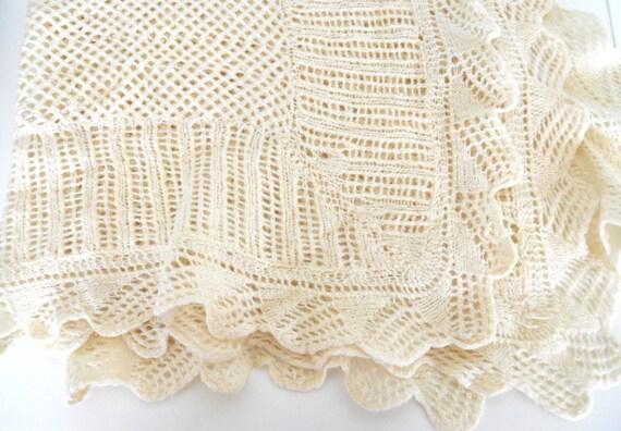 Baby Blanket- Hand-Crocheted