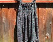 SALE - Super Sweet Babydoll Printed Dress Sz L