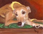 GREYHOUND DOG ART PRINT MJ ZORAD ART