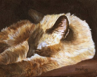 Siamese Cat Print by Mary Jo Zorad Washington Artist