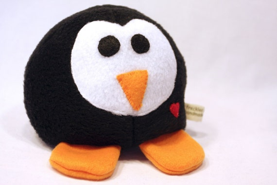 Black and White Penguin - Whee One -  Stuffed  Animal - Stuffed Toy - Plushie