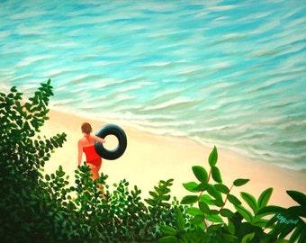 "Summer Swim 12"" x 16"" Archival art print"