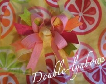Toddler bow from Doublelynbows M2M gymboree Citrus Cooler