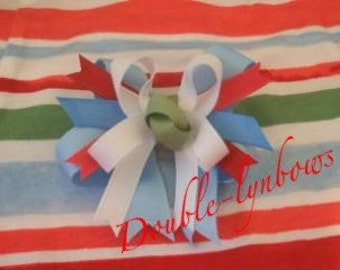 Toddler bow M2M Gymboree Burst of Spring Water colors from Doublelynbows