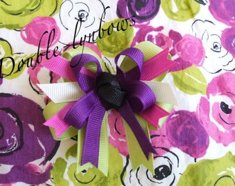 M2M Janie and Jack City Museum  Toddler bow 2 1/2 inches from Double-lynbows J&J