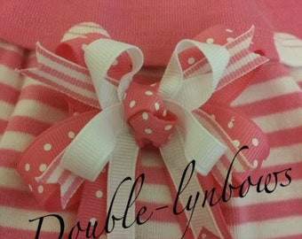Polka Dot Poodle M2M Gymboree M2MG Hairbow from Double-lynbows