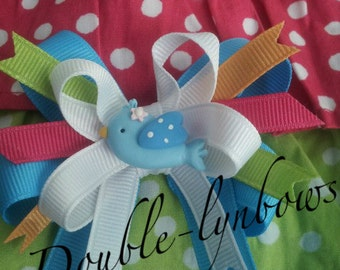 Spring Favorites Bird Birdie from Crazy 8 hairbow Toddler bows from Double-lynbows