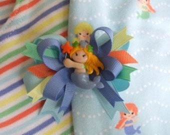 double-lynbows Made 2 Match M2M Gymboree Mermaid Magic bow with center
