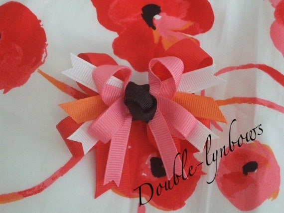 Pretty Poppies Toddler Child infant bow hairbow M2M Janie and Jack  From Double-lynbows