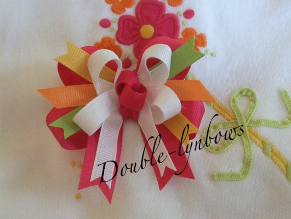 Fairy Floral M2MG M2M Gymboree Toddler bow from Double-lynbows
