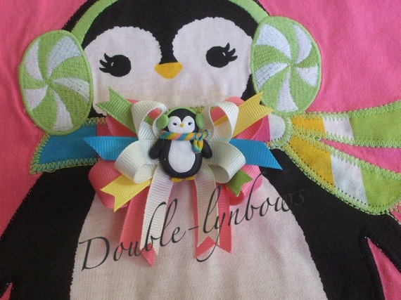 Crazy 8 Holiday Gifts Penguin hairbow Toddler bows from Double-lynbows