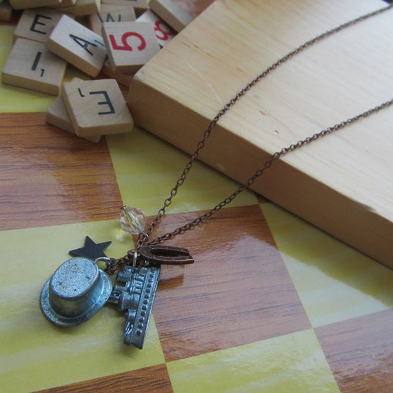 Lucky Charm Necklace - Hat & Ship (with FREE Monopoly Money Notebook)