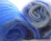 Luxury Spinning Batts, Thunderstorm Skies, 3.5 oz