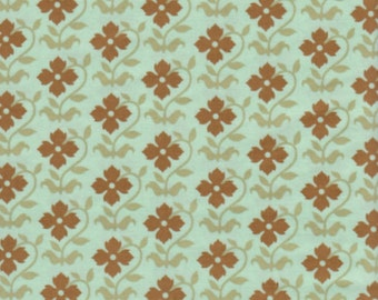 1/2 yd. chestnut hill - buttercup, moss