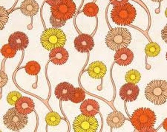 1/2 yd. gallery naturela, glowing daisy - day