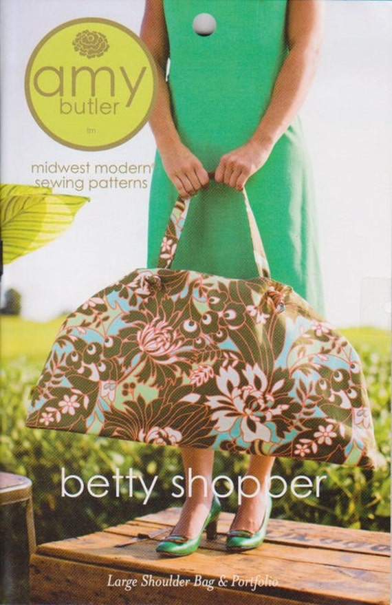 FREE SHIPPING betty shopper bag pattern by amy butler