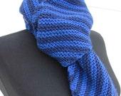 Blue Stripey Scarf