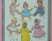 Vtg Baby Doll Clothes - Dresses, Romper, Bunting, Hats, Top, Pants, Bloomers - UNUSED Simplicity Sewing Pattern 9753 - Size Large For a 17 to 18 Inch Doll