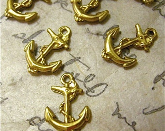 Anchor Brass Charms Double Sided (6)