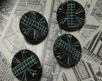 Vintage Glass Buttons (4)