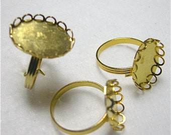 Adjustable Rings for Gluing 18 x 13 Cabochons (3)