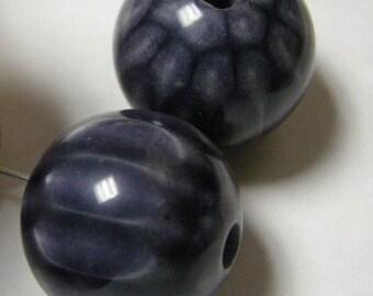 Large Indigo  Beads 26 mm (2)