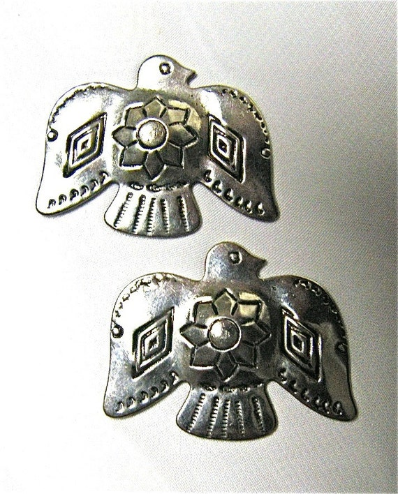 Thunderbird Metal Findings with Tooled Detailed Pattern (2)