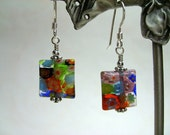 Multi-Colored Millefiori Earrings