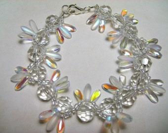 CLEARANCE Crystal Petal Bracelet